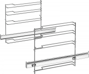 Bosch HEZ638D10 Sütősín, Full extension rail, 1-level